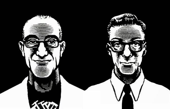 Antonio Altarriba y Keko, dibujados por éste último.