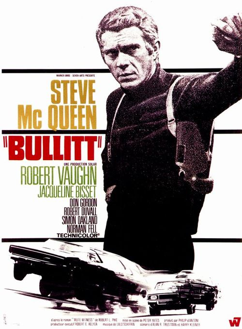 Bullitt de Peter Yates, 1968 avec Steeve Mc Queen, Robert Vaughn