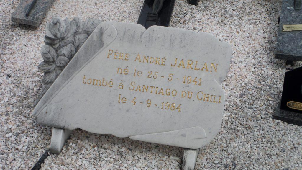 Père André Jarlan, à la paroisse Notre Dame de la Victoire (La Victoria) de Santiago, Chili.